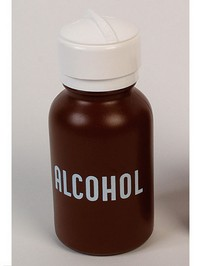 Alcohol Dispenser, 8 oz Plastic with Pump Photo